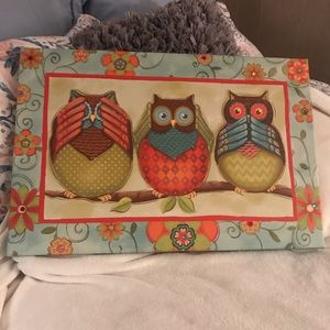 Owl chalkboard and Pic